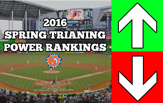 2016 Spring Training Power Rankings