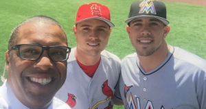 Jose Fernandez, Aledmys Diaz, and Diaz's father